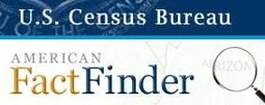 US census bureau american fact finder with link to site.