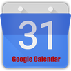 Google Calendar logo and link.